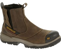 Men's Caterpillar Brown Waterproof Composite Toe Pull-On