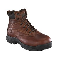 "Men's Rockport  Composite Toe Waterproof  Brown 6"" Boot"