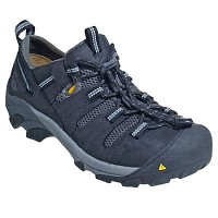 Men's KEEN Black/ Dark Shadow Steel Toe Hiker Low